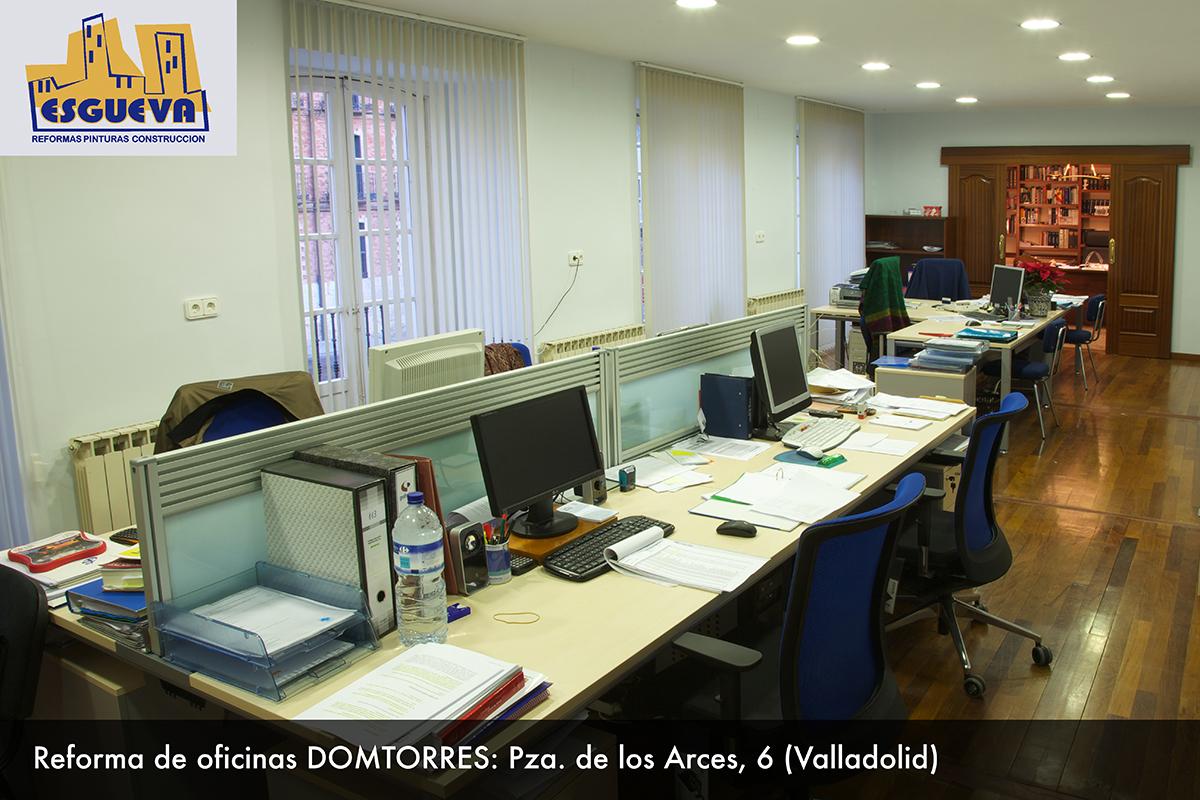 Reforma de oficina de Domtorres en Plaza de los Arces, 6 (Valladolid)