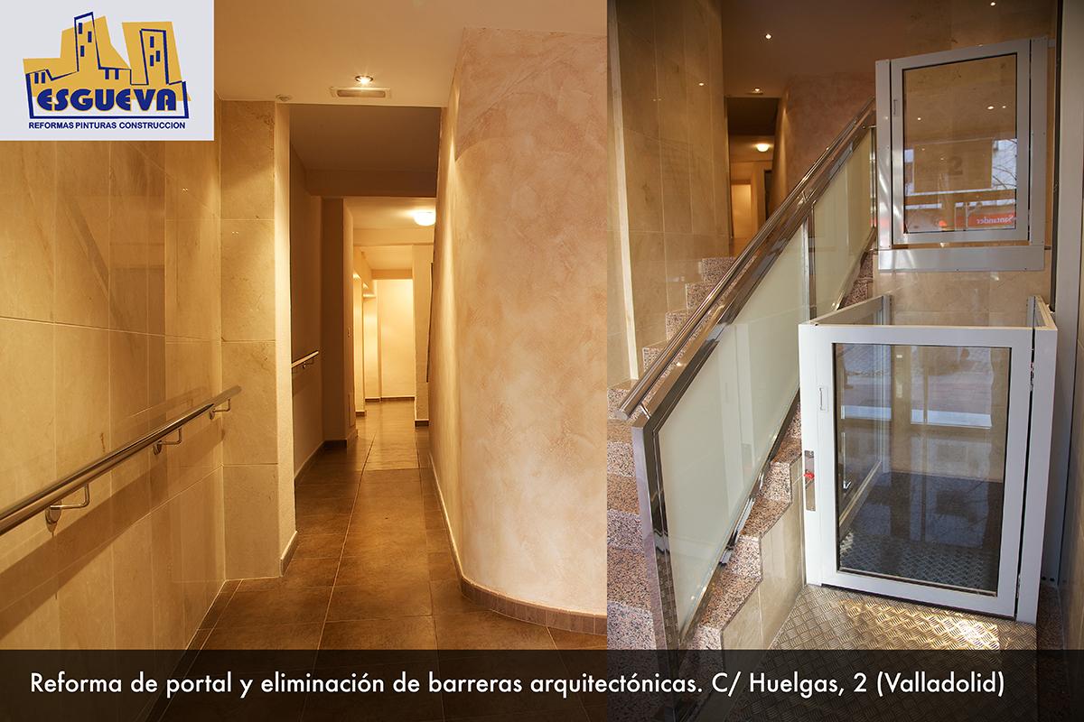 Reforma de portal y eliminación de barreras arquitectónicas en C/ Huelgas, 2 (Valladolid)
