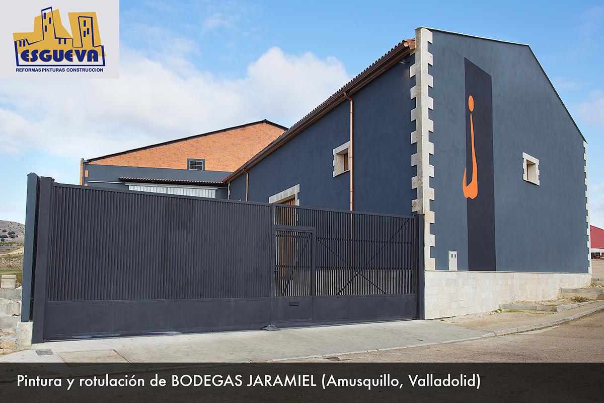 Pintura y rotulación de Bodegas Jaramiel en Amusquillo (Valladolid)