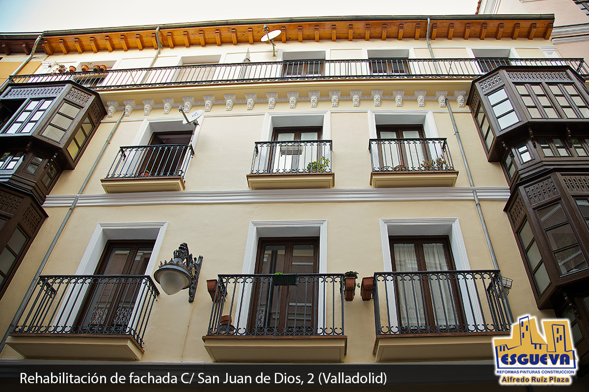 Rehabilitación de fachada Calle San Juan de Dios, 2 (Valladolid)