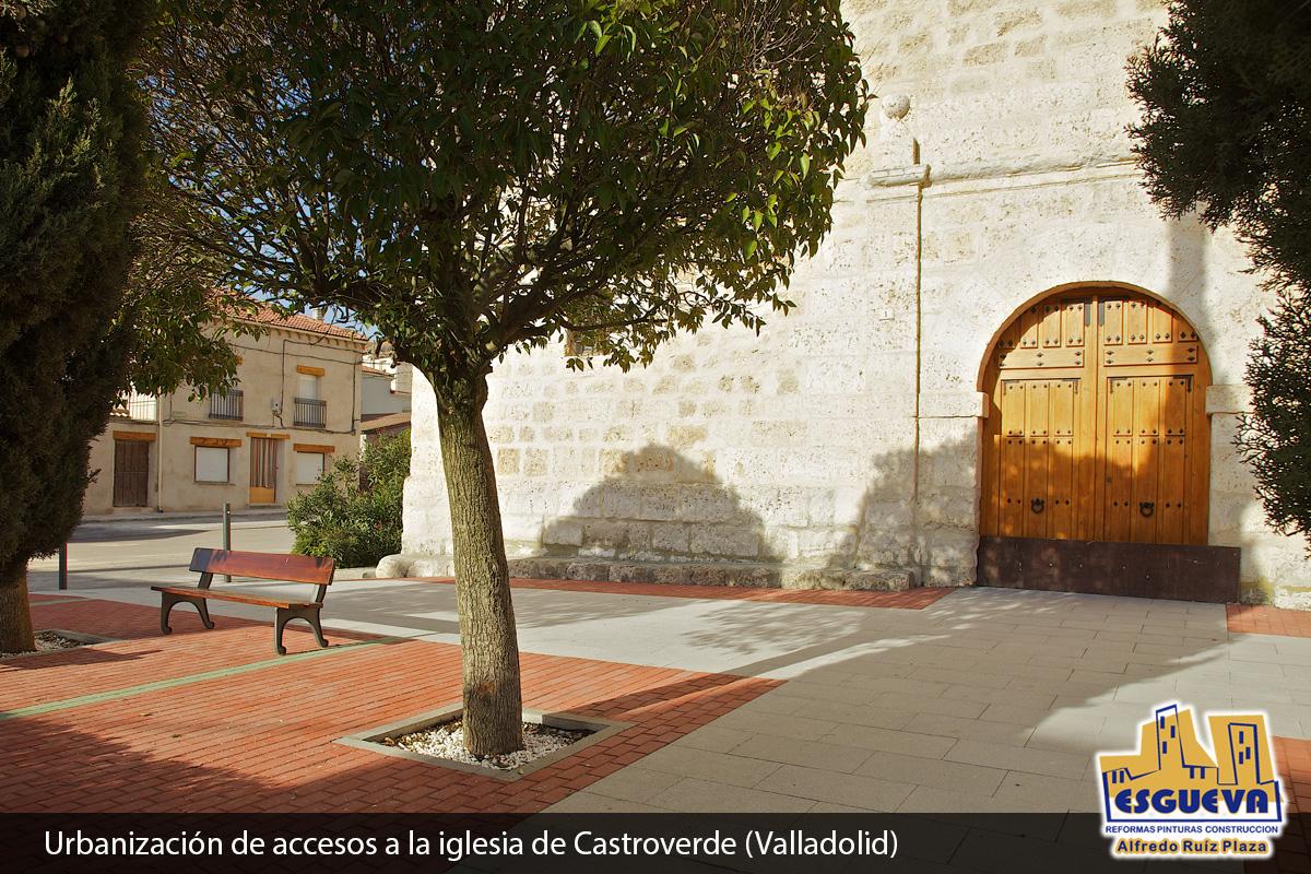 Urbanización de accesos a la iglesia de Castroverde (Valladolid)
