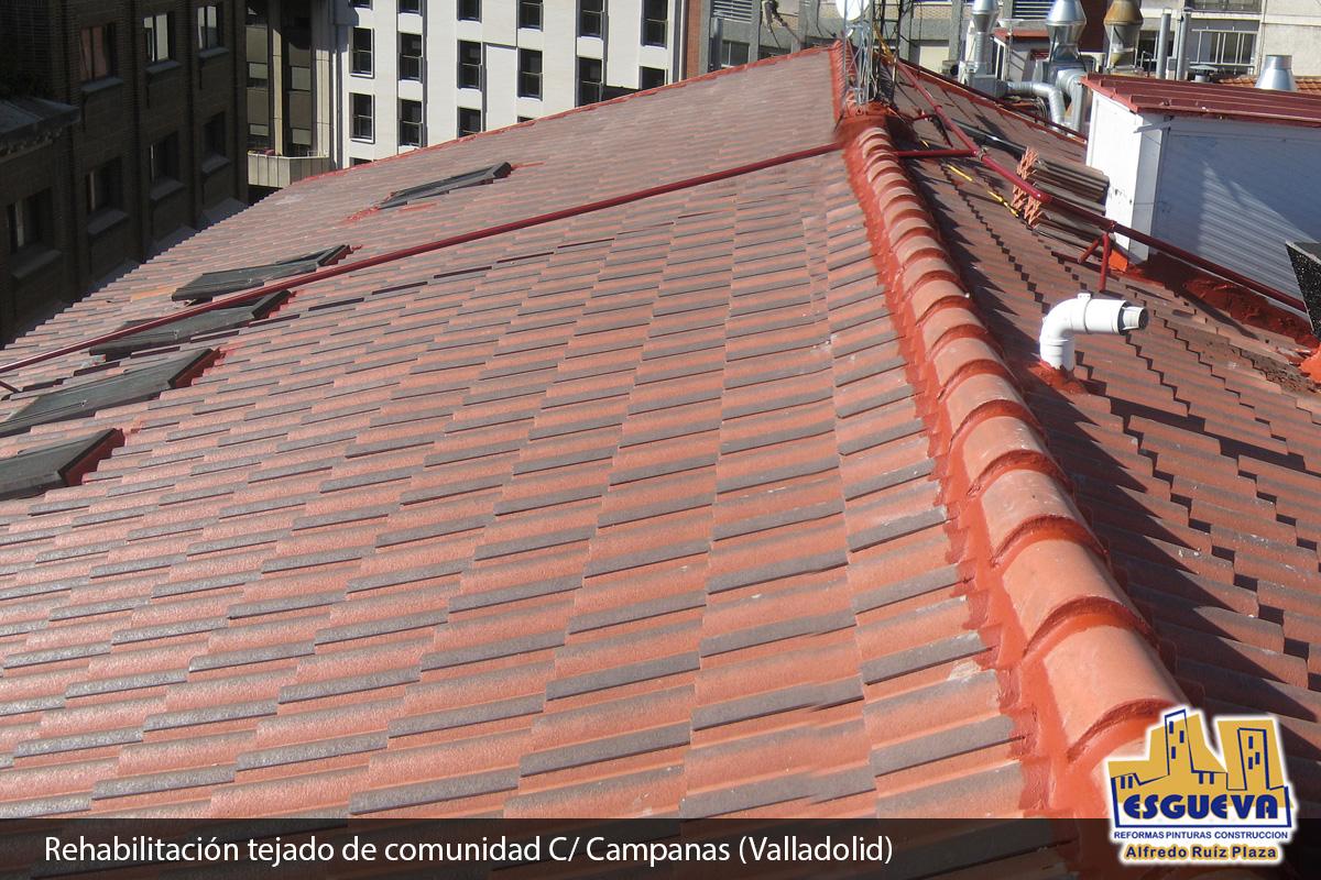 Rehabilitación de tejado de comunidad de vecinos C/ Campanas (Valladolid)