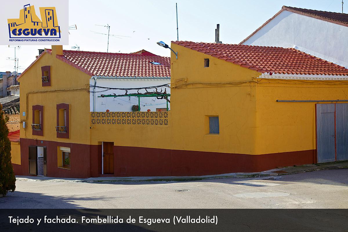 Tejado y fachada en Fombellida de Esgueva (Valladolid)