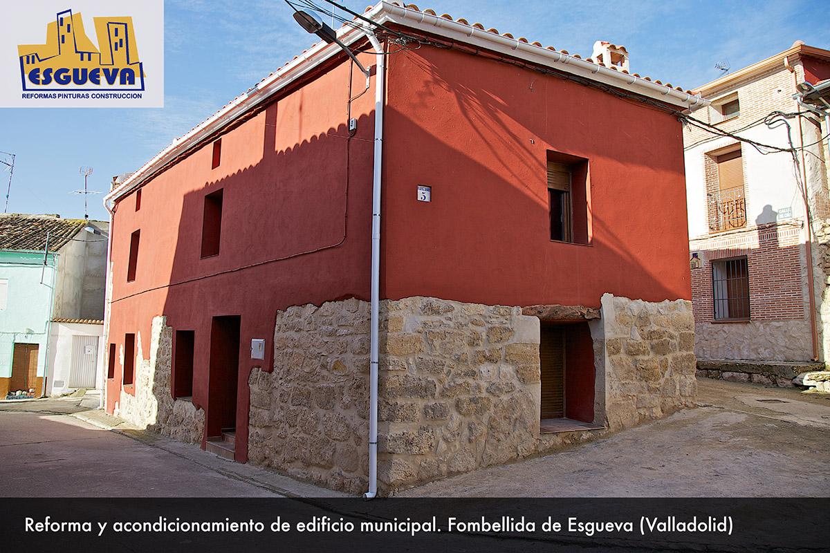 Reforma y acondicionamiento de edificio oficial en Fombellida de Esgueva (Valladolid)