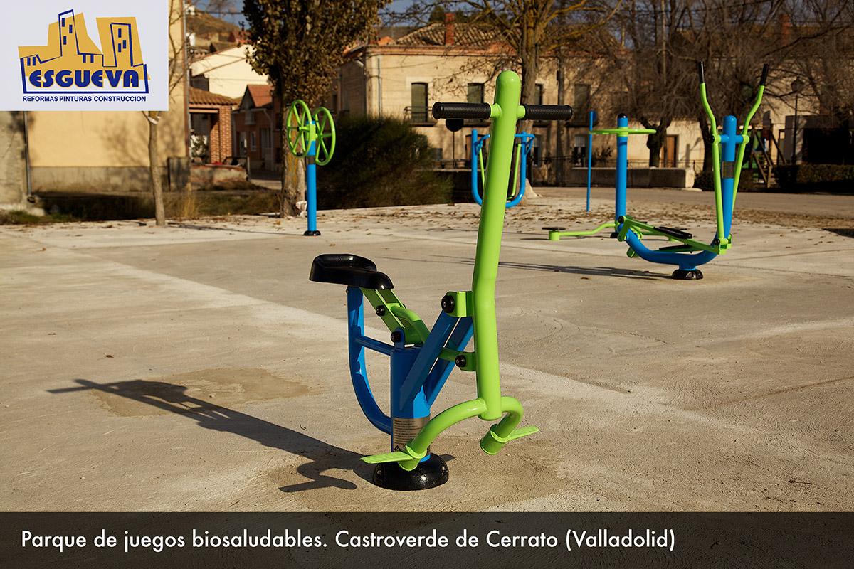 Parque de juegos biosaludables en Castroverde de Cerrato (Valladolid)