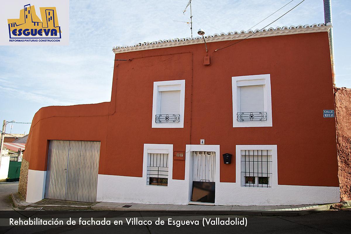 Rehabilitación de fachada en Villaco de Esgueva (Valladolid)