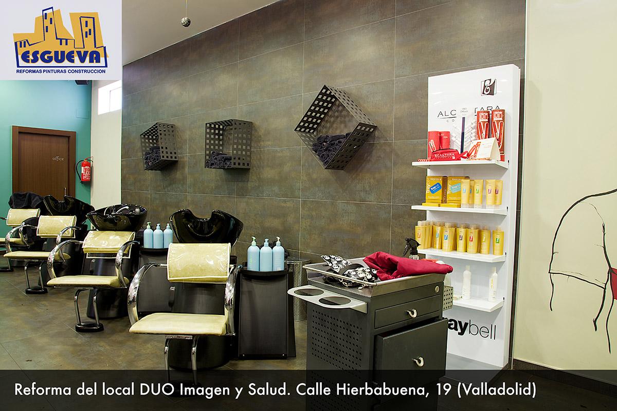 Reforma del local DUO Imagen y salud C/ Hierbabuena (Valladolid)