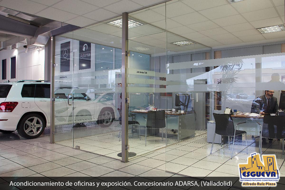 Acondicionamiento de oficinas y exposición. Concesionario ADARSA, (Valladolid)