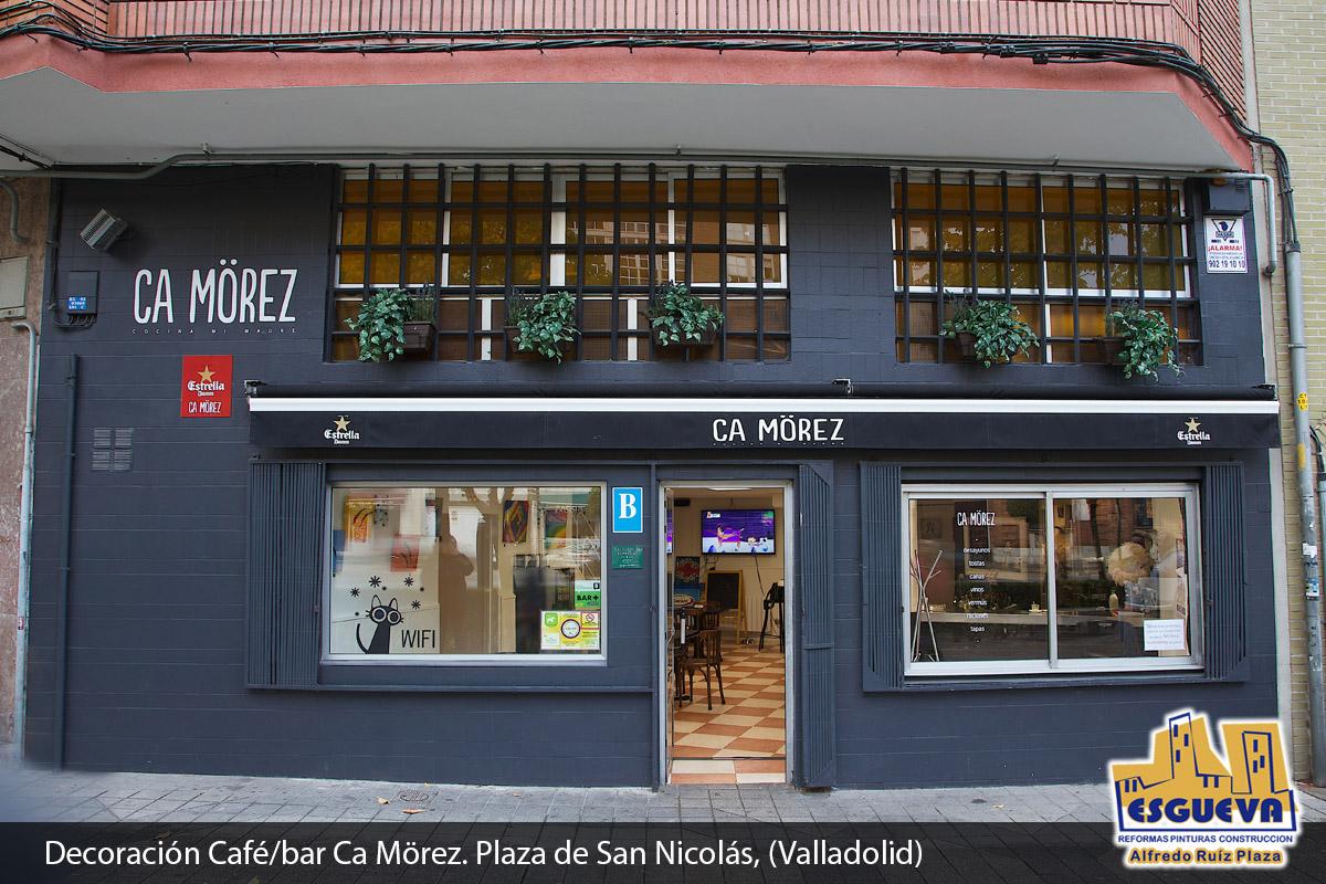 Decoración Café / bar Ca Mörez. Plaza de San Nicolás, (Valladolid)