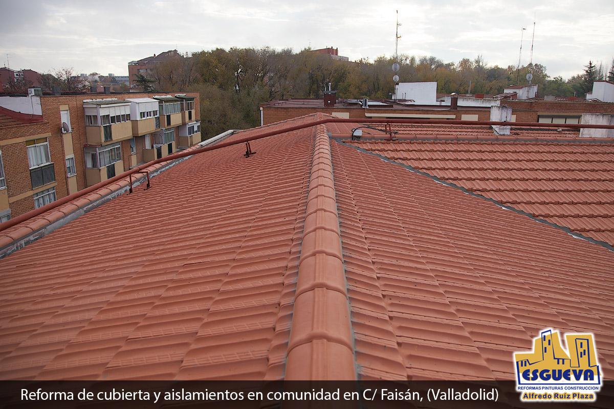 Reforma de cubierta y aislamientos en comunidad en C/ Faisán, (Valladolid)